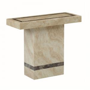 Aviator Marble Console Table Rectangular In Cream And Cappuccino