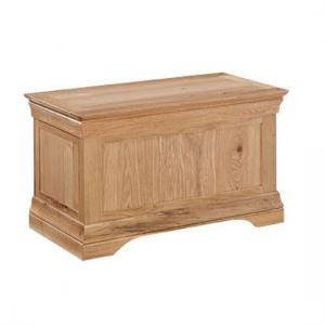 Wellington Solid Oak Finish Wooden Blanket Box