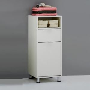 Zamora 2 Bathroom Floor Cabinet in White Finish