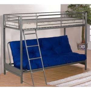Awoka Futon Metal Bunk Bed In Silver