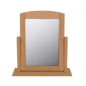 Aberdeen Single Dressing Mirror With Oak Frame