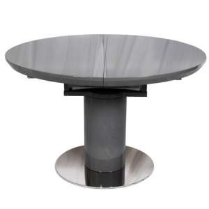 Abramo Extendable Dining Table In Grey High Gloss