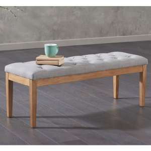 Absolutno Fabric Small Dining Bench In Grey
