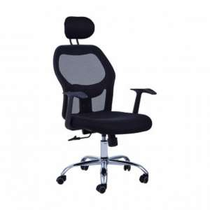 Acona Rolling Home And Office Chair With Arms In Black