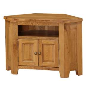 Acorn Corner Wooden TV Stand In Light Oak