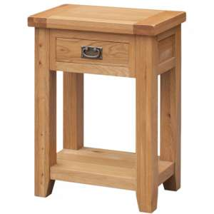 Acorn Wooden Side Table In Light Oak With 1 Drawer