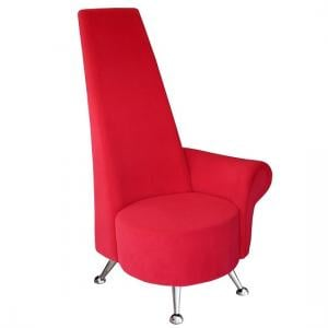 Adalyn Left Handed Mini Potenza Chair In Red Fabric