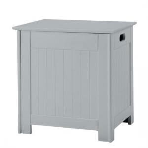 Adamo Wooden Bathroom Laundry Box In Grey