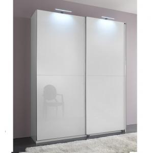 Add On D White Gloss Wardrobe With 2 Sliding Doors 1 Mirrors