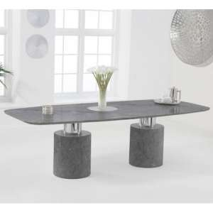 Adeline Large Marble Dining Table In Grey