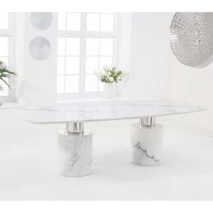Adeline Large Marble Dining Table In White