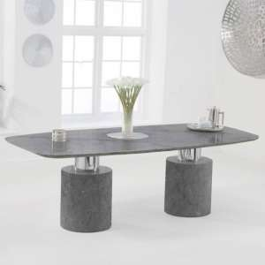 Adeline Small Marble Dining Table In Grey