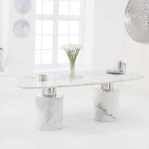Adeline Small Marble Dining Table In White