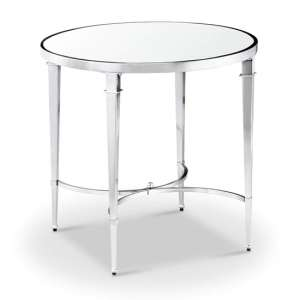 Adley Glass Side Table With Chrome Stainless Steel Legs