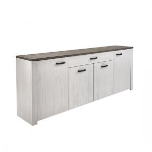 Adrina Large Sideboard In Andersen White Pine And Prata Oak