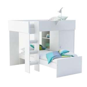 Aerial Contemporary Bunk Bed In Matt White
