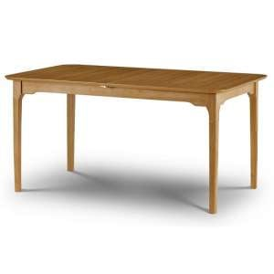 Lino Wooden Extending Dining Table In Oak Sheen Lacquer