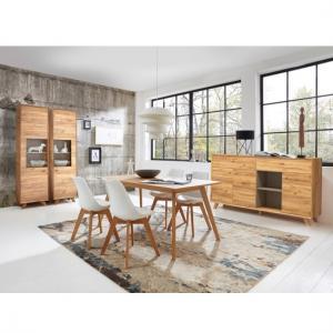Aiden Wooden Display Cabinet In Navarra Oak And Stone Grey 5
