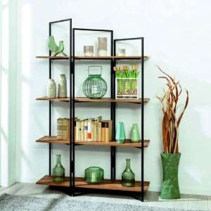 Aksa Wooden Shelving Unit In Oak