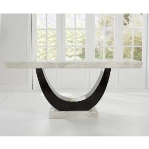 Allie Marble Dining Table Rectangular In Cream And Black_3