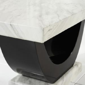 Allie Marble Dining Table Rectangular In Cream And Black_4