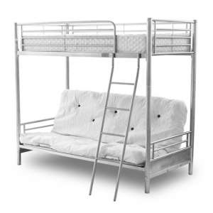 Alaska Futon Metal Bunk Bed In Silver
