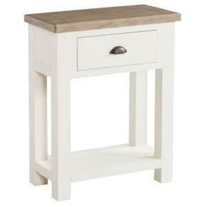 Alaya Small Console Table In Stone White Finish