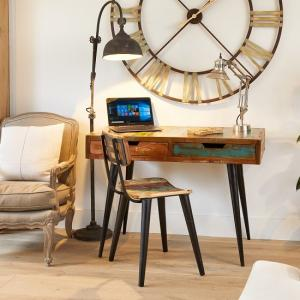 Albion Wooden Laptop Desk Rectangular In Reclaimed Wood