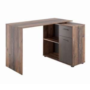 Albrecht Wooden Computer Desk In Old Style Dark