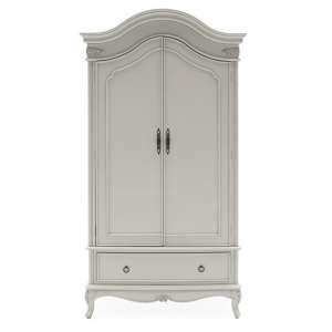 Albus Wooden Wardrobe In Painted Antique Grey Finish
