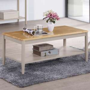 Alcor Coffee Table In Stone Grey And Oak
