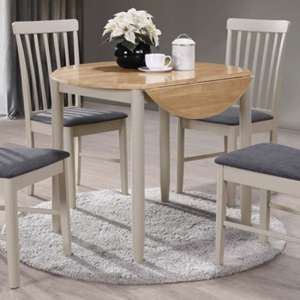 Alcor Round Drop Leaf Dining Set With 2 Chairs