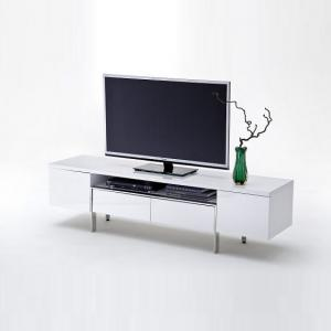 Alessa TV Stand In White High Gloss With 2 Doors and 2 Drawers