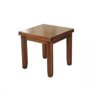Alexis Wooden End Table Square In Dark Acacia Wood