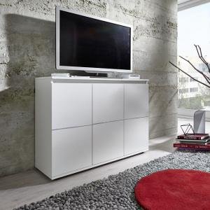 Alexis Modern TV Sideboard In White With LED Lights_6