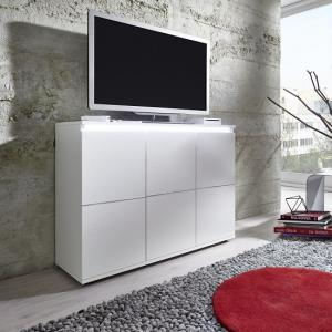 Alexis Modern TV Sideboard In White With LED Lights_5