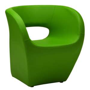 Alfro Faux Leather Effect Bedroom Chair In Apple Green