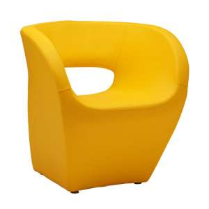 Alfro Faux Leather Effect Bedroom Chair In Yellow