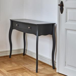 Alice Wooden Dressing Table In Black With 1 Drawer