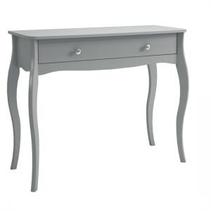 Alice Wooden Dressing Table In Grey With 1 Drawer