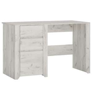 Alink Wooden 1 Door 2 Drawers Computer Desk In White