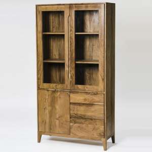 Allegro Wooden Display Cabinet In Acacia Wood