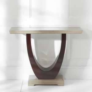Allie Marble Console Table Rectangular In Light And Dark Brown
