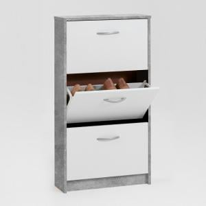 Allison Modern Shoe Cabinet In White And Light Atelier