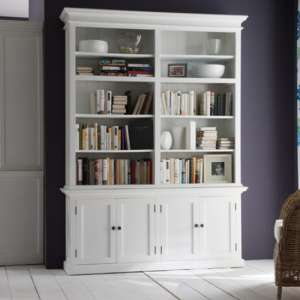 Allthorp Double Bay Storage Hutch Unit In Classic White