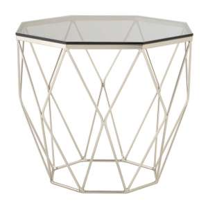 Alluras End Table With Brushed Nickel Base