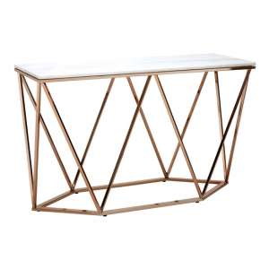 Allure Rectangular Console Table In Champagne Gold