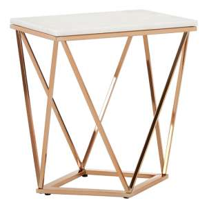Alluras Rectangular End Table In Champagne