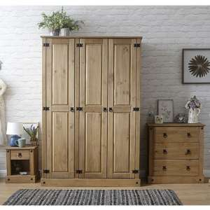 Alonza Wooden Bedroom Furniture Set 1 In Solid Pine