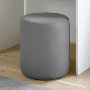 Altair Fabric Pouffe In Grey